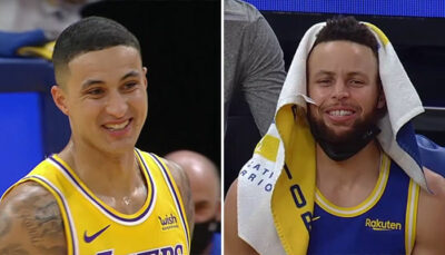 NBA – Kyle Kuzma se ridiculise, Steph Curry et le banc des Warriors se déchaînent !