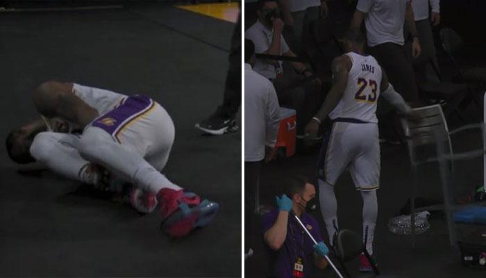 Blessure inquiétante pour LeBron, il laisse éclater sa frustration NBA