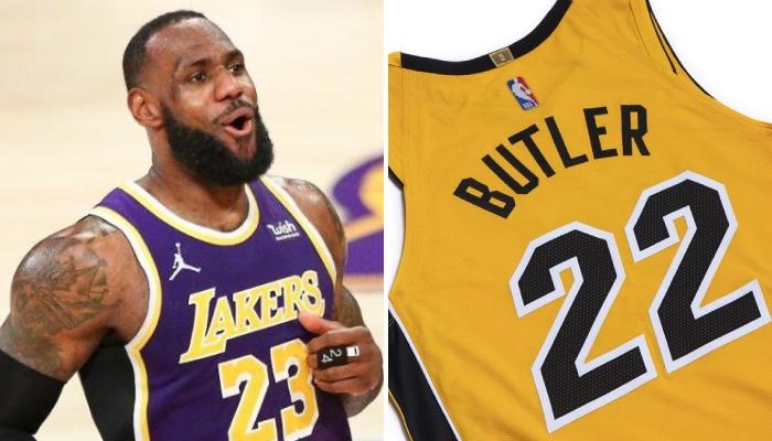La star des Los Angeles Lakers, LeBron James, a découvert à l'image des 15 autres équipes honorées le design des nouveaux maillots « Earned » dévoilés par la NBA ce mercredi