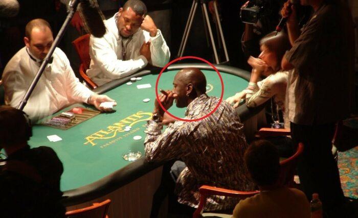 Michael Jordan en plein gambling