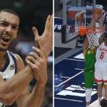 NBA – Rudy Gobert se fait salement contrer au cercle !