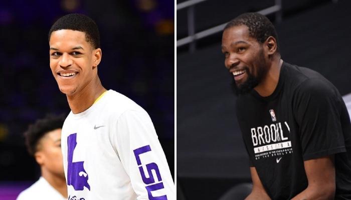 L'intérieur espoir NCAA des LSU Tigers, Shareef O'Neal, a réagi à la rixe virtuelle qui a récemment opposé la star NBA de Brooklyn Nets, Kevin Durant, à la rappeuse Kash Doll