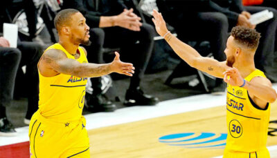 L'incroyable show longue distance de Steph Curry et Damian Lillard NBA