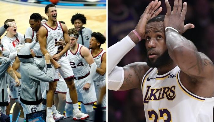 LeBron James a réagi à la victoire au buzzer de Gonzaga lors du Final Four