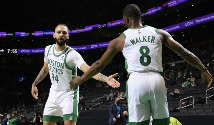 Evan Fournier et Kemba Walker chez les Celtics
