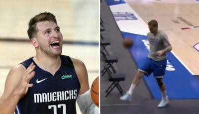 NBA – Luka Doncic met un tir inhumain quasiment depuis le vestiaire !
