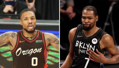 NBA – Lillard réagit à la grosse boulette de KD sur son Top 5 des coéquipiers