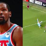 NBA – Kevin Durant abasourdi par un tacle de boucher sur un de ses joueurs