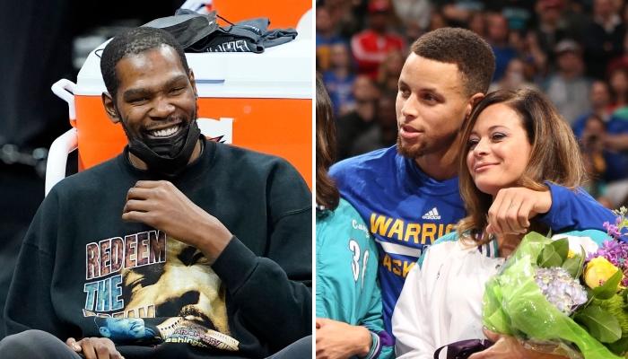 La superstar NBA des Brooklyn Nets, Kevin Durant, a explosé de rire devant un troll adressé à la mère du meneur des Golden State Warriors, Stephen Curry, nommée Sonya