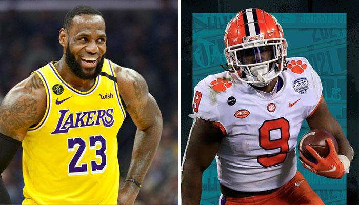 LeBron James et Damian Lillard réagissent à la draft NFL 2021