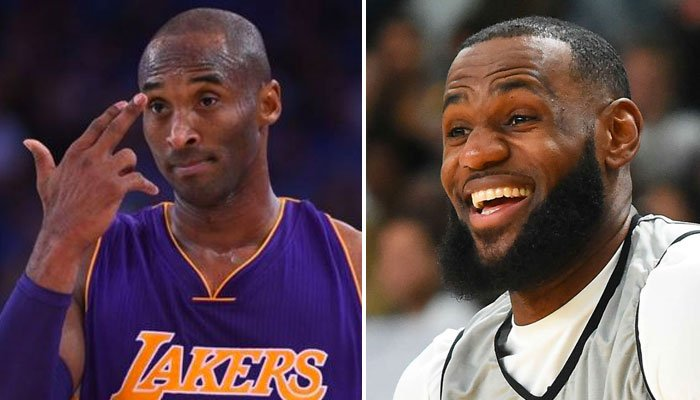 LeBron James NBA mort de rire devant un souvenir de Kobe Bryant