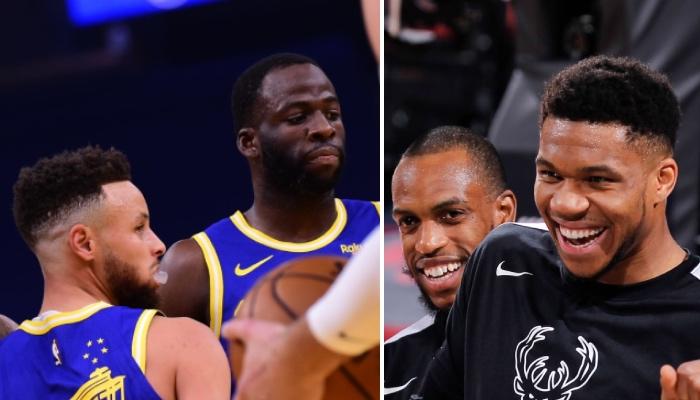 Les stars NBA des Golden State Warriors, Stephen Curry et Draymond Green, moquées par celles des Milwaukee Bucks, Khris Middleton et Giannis Antetokounmpo