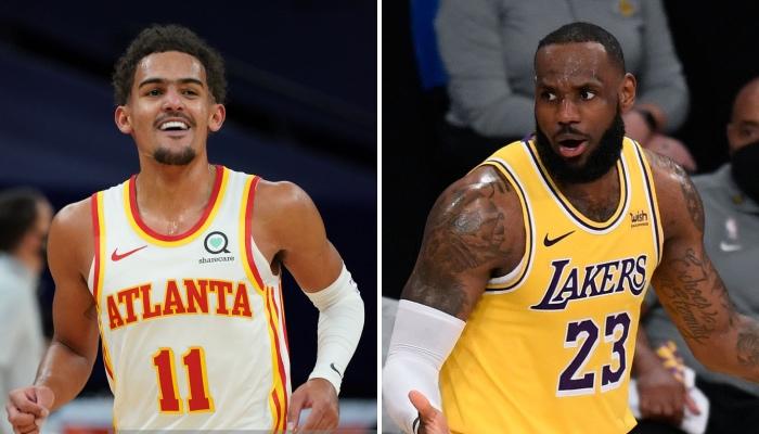 Le meneur star NBA des Atlanta Hawks, Trae Young, sur le traces du leader des Los Angeles Lakers, LeBron James, avec une folle perf all-time