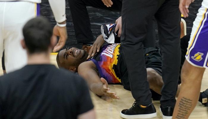 Chris Paul s'est blessé lors du Game 1 des playoffs face aux Lakers