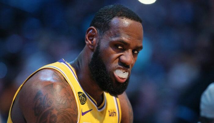 NBA LeBron James n'est pas content