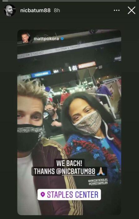 NBA Matt pokora au match de Nicolas Batum