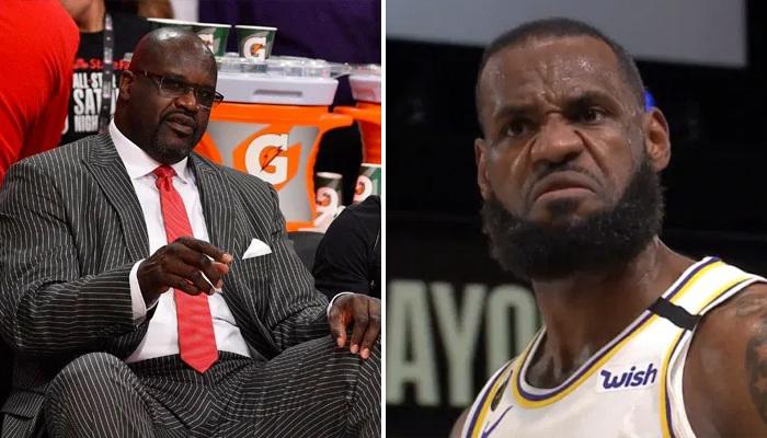 NBA Shaq snobe le KIng lors d'un Top4