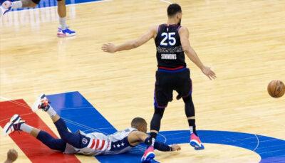 NBA – Ben Simmons se moque ouvertement de Russell Westbrook en plein match !
