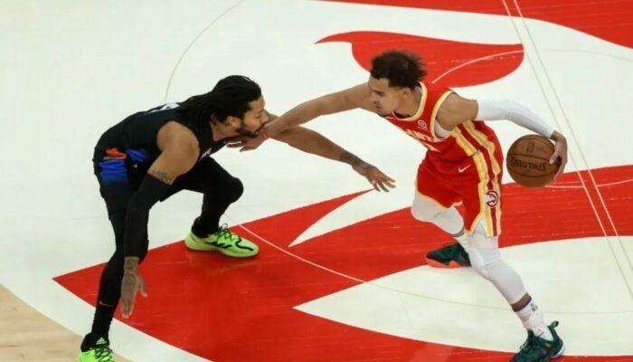 Derrick Rose et Trae Young des Hawks et des Knicks