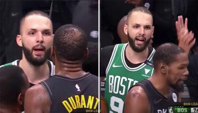 NBA – Evan Fournier balance un gros tacle à Kevin Durant !
