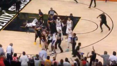 NBA – Début de bagarre entre Lakers et Suns, expulsion et techniques !
