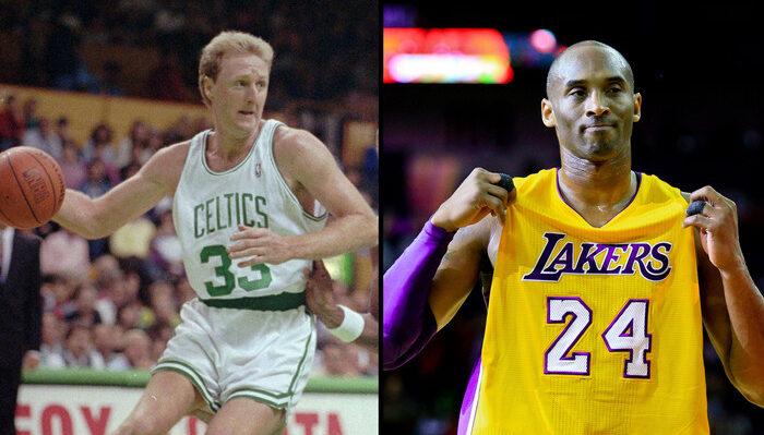 Larry Bird et Kobe Bryant