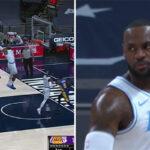 NBA – LeBron fête son retour sur les parquets avec un gros dunk !