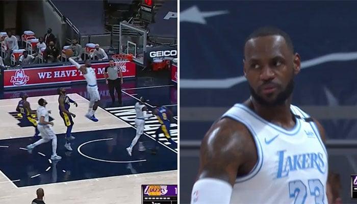 LeBron fête son retour sur les parquets avec un gros dunk ! NBA