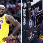 NBA – Grosse frayeur pour LeBron, qui se fait encore la cheville !