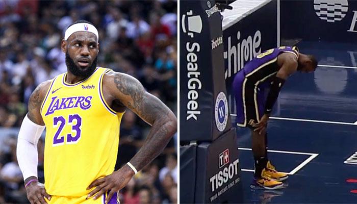Grosse frayeur pour LeBron, qui se fait encore la cheville ! NBA