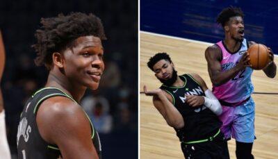 NBA – La réaction géniale d'Anthony Edwards au clash Butler/KAT