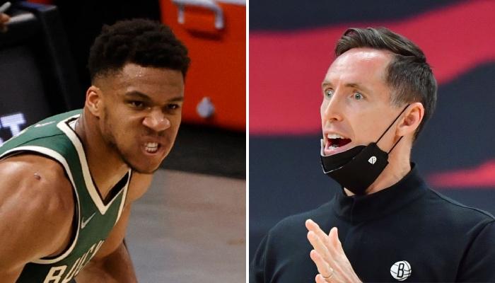 La superstar NBA des Milwaukee Bucks, Giannis Antetokounmpo, agacée par la réaction de l'entraineur des Brooklyn Nets, Steve Nash, à son nouveau carton face aux New Yorkais