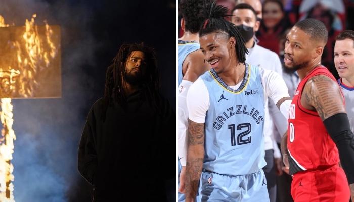 Les stars NBA, dont Ja Morant et Damian Lillard, ont réagi au nouvel album du rappeur américain J Cole, intitulé « The Off-Season »