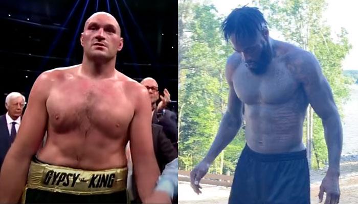 Tyson Fury et Deontay Wilder se chauffent