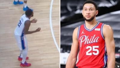 NBA – Les images virales de la réaction d'Embiid sur l'action WTF de Simmons