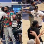 NBA/HS – LeBron et Drake disjonctent pendant le match de Bronny
