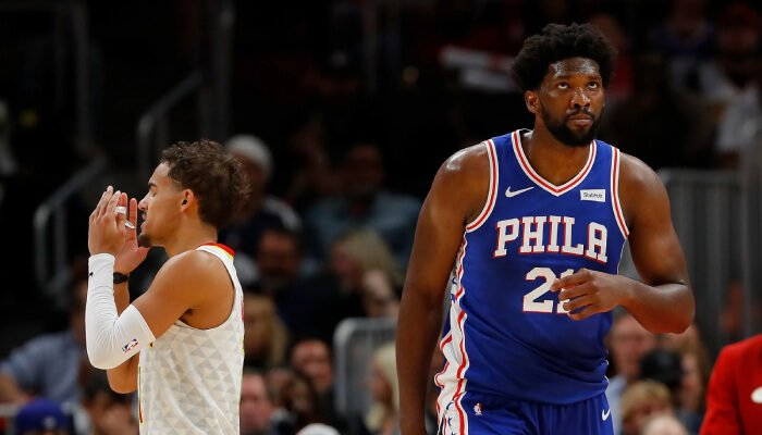 NBA Joel Embiid défend Trae Young