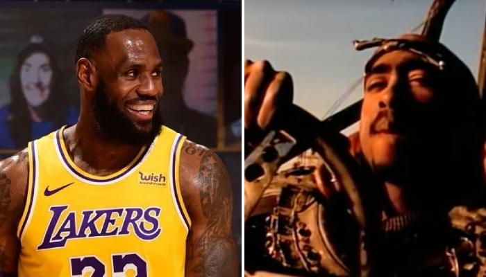NBA LBJ souhaite un bon anniversairz à Tupac