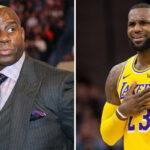 NBA –  Après sa rencontre surprise avec LeBron, Magic Johnson se sauce sur Twitter !