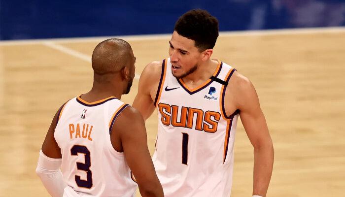 NBA Chris Paul et Devin Booker