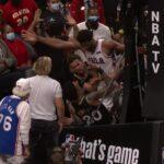 NBA – Bazar à Atlanta, Embiid et Collins s'embrouillent jusque dans les tribunes !