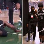 NBA – Scénario catastrophe, Kyrie sort après une très vilaine chute !