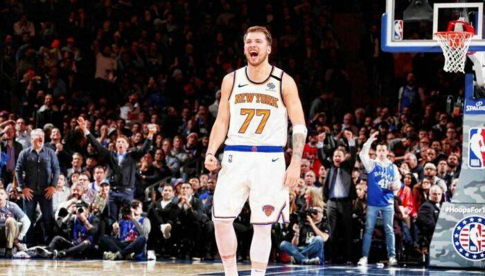 Luka Doncic sous un jersey des Knicks