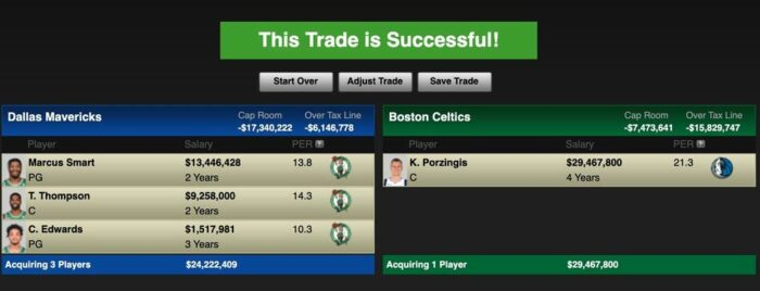 The commerce that will rid Dallas of Porzingis … and make them stronger!