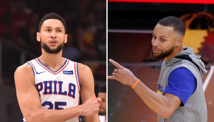 La superstar NBA des Philadelphia 76ers, Ben Simmons, a fait l'objet d'un sondage choc auprès des fans des Golden State Warriors, représentés ici par Stephen Curry
