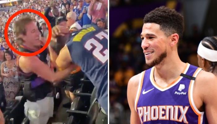 La star NBA des Phoenix Suns, Devin Booker, s'est adressé au fan devenu viral pour sa bagarre avec un supporter des Denver Nuggets
