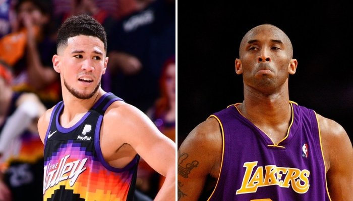 La star NBA des Phoenix Suns, Devin Booker, récemment comparée à la légende des Los Angeles Lakers, Kobe Bryant