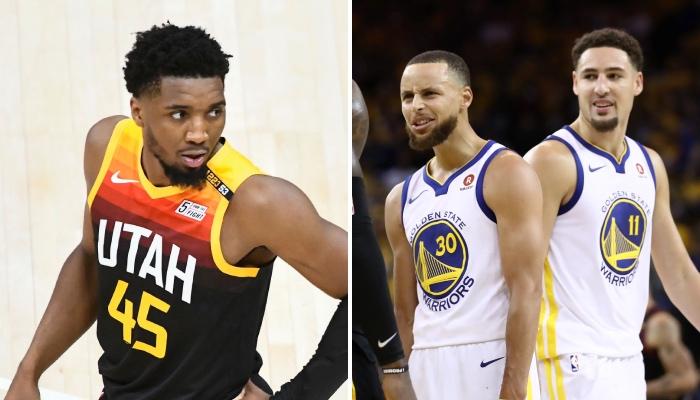 La star NBA du Utah Jazz, Donovan Mitchell, vient de signer une statistique similaire aux Splash Brothers de Golden State, Stephen Curry et Klay Thompson