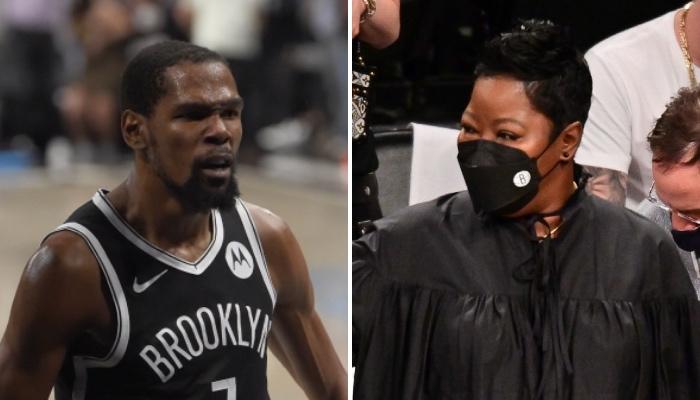 La mère du la superstar NBA des Brooklyn Nets, Kevin Durant, a répondu volontiers aux avances ironiques d'un joueur des Milwaukee Bucks lors du match 7 entre les deux équipes