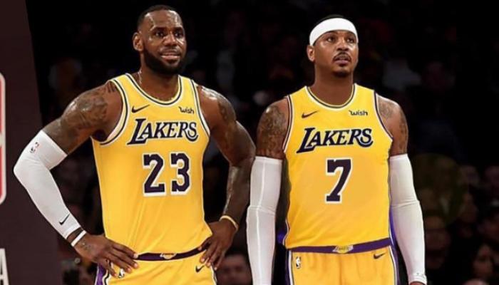 Les stars NBA, LeBron James et Carmelo Anthony, bientôt sous les couleurs des Los Angeles Lakers ?